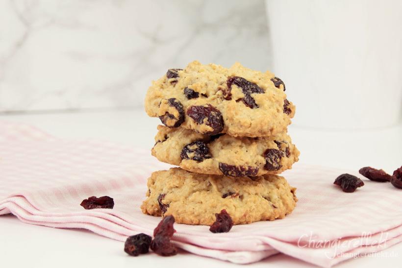 Cranberry Haferflocken Kekse – ein super einfaches Rezept