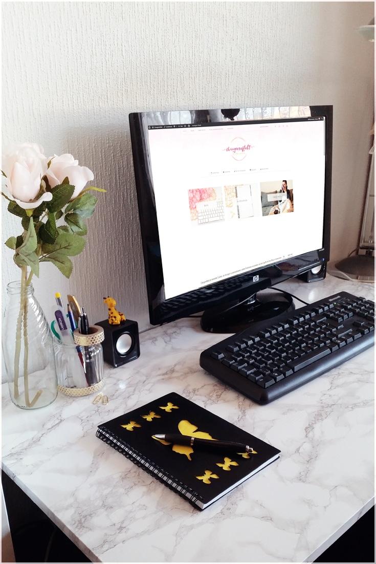 Mein neuer Arbeitsplatz – Bloggen, Basteln, Nähen und mehr