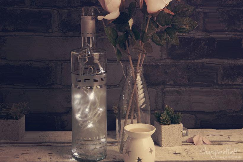 DIY Lampe aus Flaschen selber machen – Lecker in den Herbst mit BREE Wein